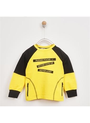 Panço Erkek Çocuk Sweatshirt 2021BK08047 Sarı
